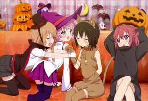 Rating: Questionable Score: 50 Tags: akaza_akari animal_ears ass dress funami_yui halloween nekomimi tail thighhighs toshinou_kyouko witch yoshikawa_chinatsu yuru_yuri User: drop