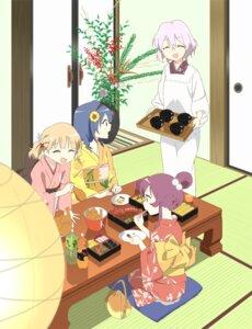 Rating: Safe Score: 11 Tags: furutani_himawari ikeda_chitose kimono megane ochazuke sugiura_ayano yoshikawa_chinatsu yuru_yuri User: NotRadioactiveHonest