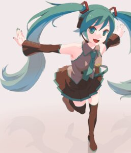 Rating: Safe Score: 19 Tags: hatsune_miku thighhighs tomioka_jirou vocaloid User: charunetra