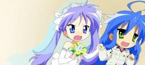Rating: Safe Score: 13 Tags: dress hiiragi_kagami izumi_konata lucky_star vector_trace wedding_dress User: Radioactive