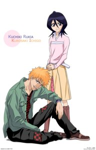 Rating: Safe Score: 8 Tags: bleach kuchiki_rukia kurosaki_ichigo signed vector_trace User: Radioactive