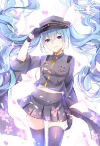 Rating: Safe Score: 63 Tags: chuo_zi hatsune_miku senbon-zakura_(vocaloid) thighhighs uniform vocaloid User: Mr_GT
