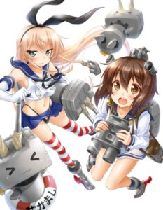 Rating: Questionable Score: 22 Tags: kantai_collection okitakung pantsu rensouhou-chan shimakaze_(kancolle) thighhighs yukikaze_(kancolle) User: 椎名深夏