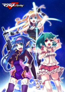 Rating: Safe Score: 9 Tags: christinya gun jpeg_artifacts klan_klein macross macross_frontier ranka_lee sheryl_nome thighhighs User: charunetra