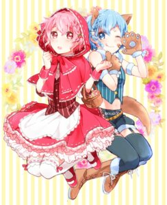 Rating: Safe Score: 18 Tags: animal_ears dorothy_west dress leona_west mgmgkyun pripara stockings tail thighhighs trap User: Mr_GT