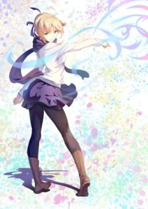 Rating: Safe Score: 75 Tags: fate/stay_night pantyhose saber tagme User: omegakung