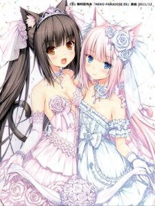 Rating: Safe Score: 150 Tags: animal_ears chocola dress jpeg_artifacts neko_works nekomimi nekopara sayori tail vanilla wedding_dress User: Radioactive