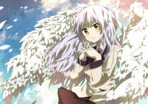 Rating: Safe Score: 13 Tags: angel_beats! hatsuka_nezumi seifuku tenshi wings User: Radioactive