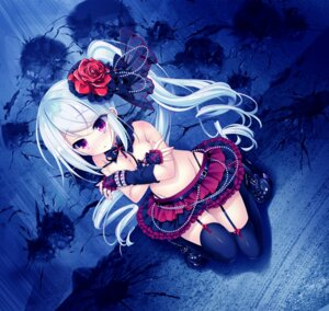 Rating: Questionable Score: 96 Tags: areola breast_hold game_cg gothic_lolita ichijou_kurea lass liber_7 lolita_fashion stockings thighhighs topless youta User: donicila