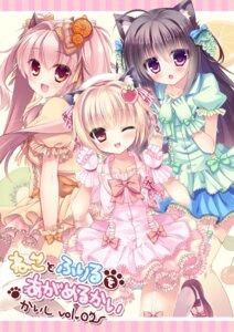 Rating: Safe Score: 65 Tags: animal_ears dress mizuki_yuuma nekomimi pantsu rubi-sama stockings thighhighs User: 椎名深夏
