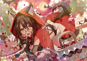 Rating: Safe Score: 21 Tags: animal_ears cosplay fishnets garter light_up little_red_riding_hood_(character) megane peach_punch tail yuzuki_uru User: BattlequeenYume