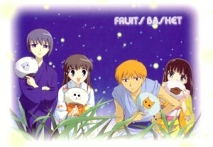 Rating: Safe Score: 4 Tags: fruits_basket honda_tohru sohma_kagura sohma_kyo sohma_yuki yukata User: Radioactive