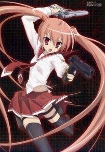 Rating: Safe Score: 63 Tags: gun hidan_no_aria iwakura_kazunori kanzaki_h_aria seifuku thighhighs User: vita