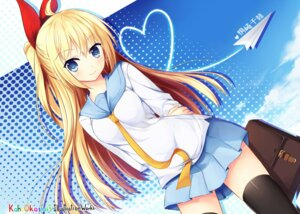 Rating: Safe Score: 79 Tags: jpeg_artifacts kaho_okashii kirisaki_chitoge nisekoi seifuku thighhighs User: 椎名深夏