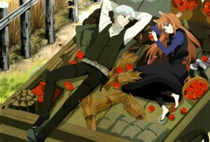 Rating: Safe Score: 17 Tags: animal_ears craft_lawrence detexted holo spice_and_wolf tail User: Sandman1