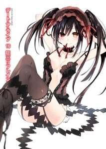 Rating: Questionable Score: 116 Tags: date_a_live dress gothic_lolita heels heterochromia lolita_fashion no_bra open_shirt pantsu panty_pull stockings string_panties thighhighs tokisaki_kurumi tsunako User: kiyoe