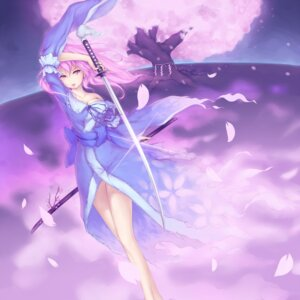 Rating: Safe Score: 15 Tags: cleavage die_blonde_bestie saigyouji_yuyuko sword touhou User: Radioactive