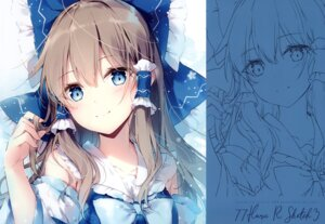 Rating: Safe Score: 25 Tags: hakurei_reimu mochizuki_shiina sketch tagme touhou User: kiyoe