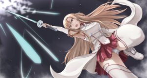 Rating: Safe Score: 41 Tags: asuna_(sword_art_online) pantsu sword sword_art_online tea thighhighs User: fairyren