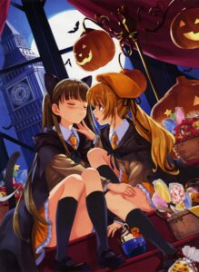 Rating: Safe Score: 88 Tags: animal_ears fixed halloween misaki_kurehito nekomimi seifuku tail User: es