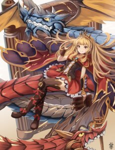 Rating: Safe Score: 42 Tags: cagliostro_(granblue_fantasy) dress eruthika granblue_fantasy monster thighhighs User: Mr_GT