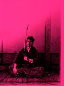 Rating: Safe Score: 3 Tags: inoue_takehiko male monochrome musashi sword vagabond User: Umbigo
