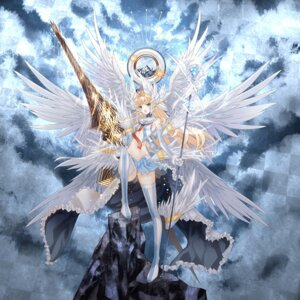 Rating: Safe Score: 38 Tags: achunchun kaku-san-sei_million_arthur thighhighs weapon wings User: fairyren