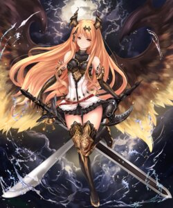 Rating: Safe Score: 97 Tags: armor dark_angel_olivia dress granblue_fantasy heels horns shingeki_no_bahamut sword tattoo thighhighs untsue wings User: Mr_GT