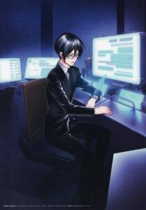 Rating: Safe Score: 4 Tags: amano_akira business_suit ginoza_nobuchika male megane nitroplus psycho-pass User: Radioactive