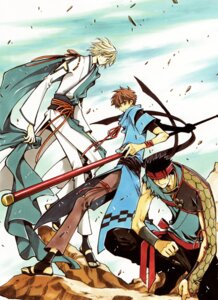 Rating: Safe Score: 3 Tags: clamp fai_d._flourite kurogane li_syaoran male tsubasa_reservoir_chronicle User: Share