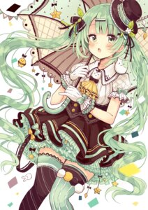 Rating: Safe Score: 38 Tags: dress hatsune_miku lolita_fashion sakura_oriko thighhighs umbrella vocaloid User: Spidey