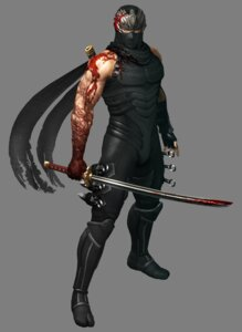 Rating: Questionable Score: 3 Tags: bodysuit ninja ninja_gaiden ninja_gaiden_3 ryu_hayabusa sword User: Yokaiou