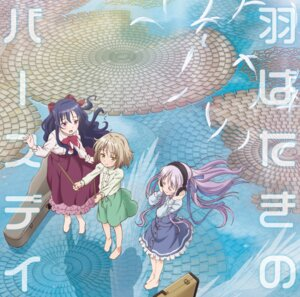 Rating: Safe Score: 29 Tags: disc_cover dress goto_jun headphones kaneshiro_sora momijidani_nozomi tenshi_no_three_piece! User: LiHaonan