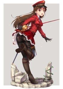 Rating: Questionable Score: 49 Tags: ass heels pantsu pantyhose sword tori_(puru0083) uniform weapon User: mash