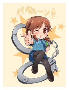 Rating: Safe Score: 19 Tags: chibi kamille katagiri_sanae pantyhose police_uniform the_idolm@ster the_idolm@ster_cinderella_girls User: mash