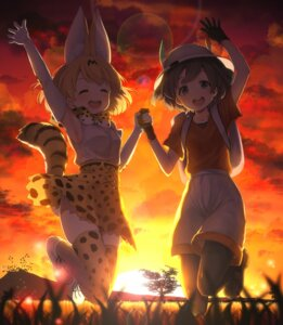 Rating: Safe Score: 16 Tags: animal_ears kaban_(kemono_friends) kemono_friends pantyhose serval tail thighhighs vsi0v User: Mr_GT