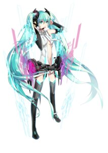 Rating: Safe Score: 33 Tags: hatsune_miku headphones lightofheaven miku_append thighhighs vocaloid vocaloid_append User: charunetra