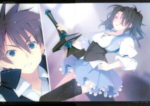 Rating: Safe Score: 16 Tags: machine-doll_wa_kizutsukanai ruroo sword thighhighs User: red_destiny