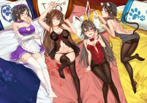 Rating: Questionable Score: 56 Tags: animal_ears ass b3b bunny_ears bunny_girl cleavage feet haruna_(kancolle) hiei_(kancolle) kantai_collection kirishima_(kancolle) kongou_(kancolle) lingerie maid nekomimi no_bra pantsu panty_pull pantyhose see_through stockings sweater tail thighhighs User: Mr_GT
