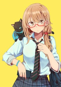Rating: Safe Score: 57 Tags: kazenoko megane neko seifuku User: Mr_GT