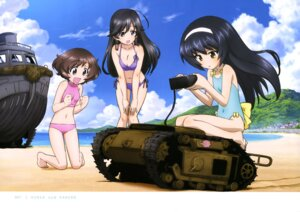Rating: Safe Score: 34 Tags: akiyama_yukari bikini cleavage girls_und_panzer isuzu_hana reizei_mako swimsuits User: drop