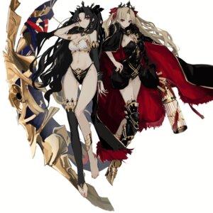 Rating: Safe Score: 1 Tags: armor bikini_armor cleavage ereshkigal_(fate/grand_order) fate/grand_order heels ishtar_(fate/grand_order) pantsu tagme thighhighs User: Mr_GT
