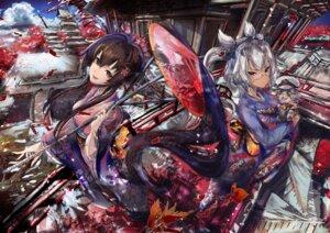 Rating: Safe Score: 37 Tags: kantai_collection kimono megane musashi_(kancolle) neko umbrella xeirn yamato_(kancolle) User: Mr_GT