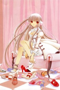 Rating: Safe Score: 14 Tags: bloomers chii chobits clamp cleavage User: Share
