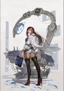 Rating: Questionable Score: 37 Tags: heels megane shaonav stockings thighhighs weapon User: Mr_GT