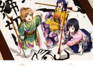 Rating: Safe Score: 43 Tags: imai_midori kimono miyamori_aoi satou_youko shirobako yasuhara_ema User: drop