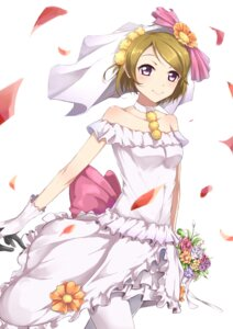 Rating: Questionable Score: 28 Tags: dress ginn_(hzh770121) koizumi_hanayo love_live! pantyhose wedding_dress User: cosmic+T5