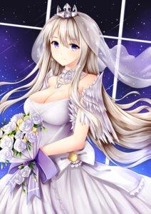 Rating: Safe Score: 59 Tags: azur_lane cleavage dress enterprise_(azur_lane) wedding_dress wsman User: Mr_GT