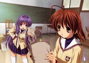 Rating: Safe Score: 18 Tags: clannad fujibayashi_kyou furukawa_nagisa ikeda_kazumi seifuku User: sdlin2006