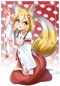 Rating: Safe Score: 10 Tags: animal_ears katou_shinobu kitsune miko senko-san sewayaki_kitsune_no_senko-san tail User: Mr_GT